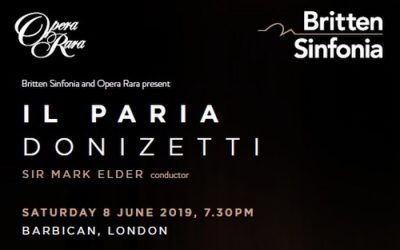 Book now for Donizetti's Il Paria at the Barbican Centre on June 8th
