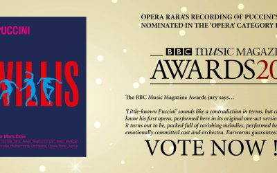 Le Willis nominated for a BBC Music Award in the OPERA category